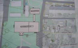II ehitusjärk. Plaan. Üleval vasakul olemasolevad hooned